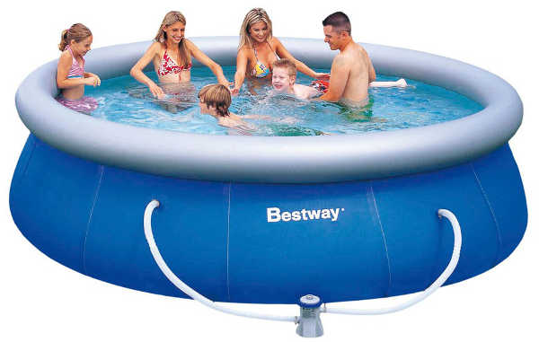 BestWay 57166 Бассейн надувной Fast 366*91 см с насосом и фильтром