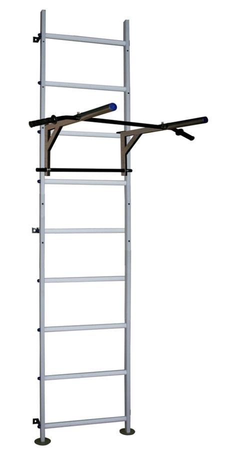 Вертикаль (ГранВиС) Вертикаль-12.1 + ТБ, шведская стенка (с креплением к стене) расширенная с навесным регулируемым турником-брусьями