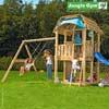 Jungle Gym Детский игровой комплекс Jungle Barn + Swing Module Xtra
