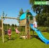 Jungle Gym Детский игровой комплекс Jungle Gym Villa + Swing Module Xtra