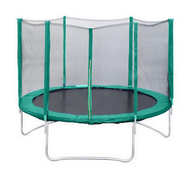 КМС Батут Trampoline 14 футов (диаметр 4,3 метра) с защитной сеткой