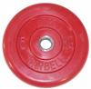 MB Barbell Диск для штанги цветной обрезиненный, 5 кг (26 мм), серия Стандарт
