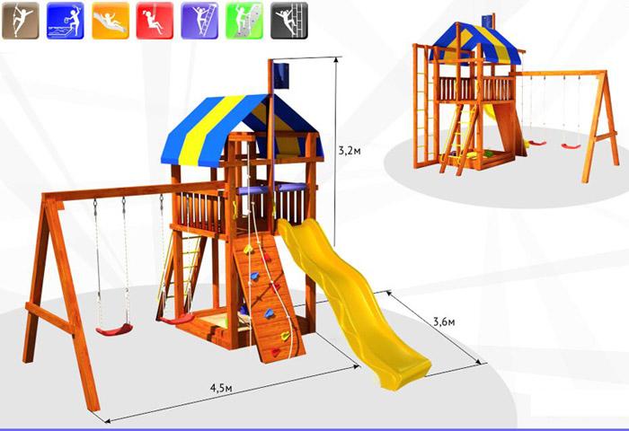 Детский спортивный комплекс из дерева чертежи