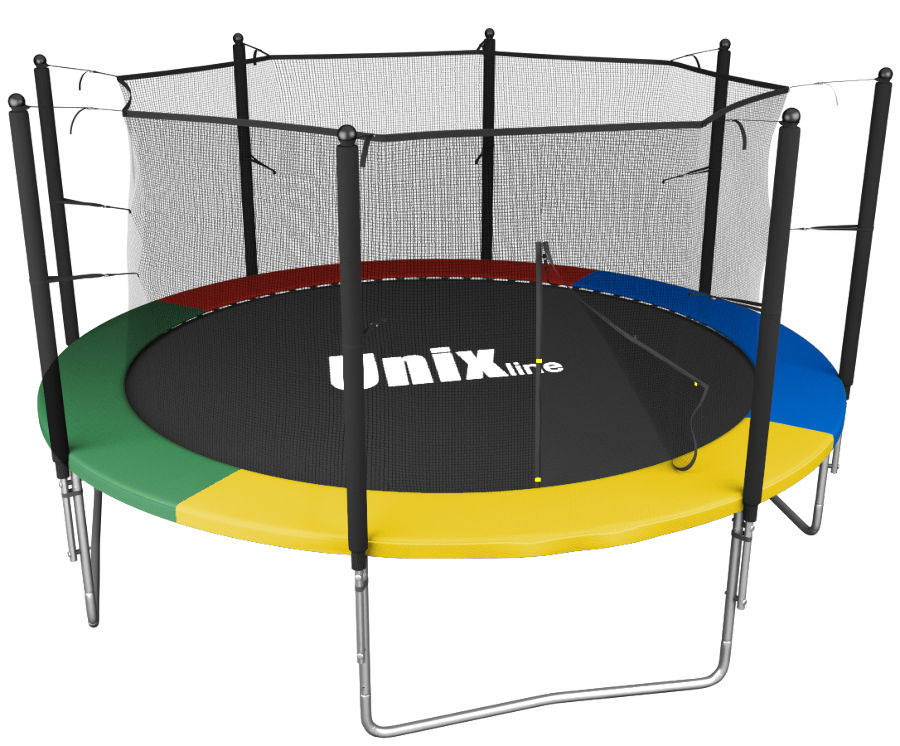 Unix Батут Unix Line Simple 12 футов Inside (с внутренней защитной сетью) Color (разноцветный)