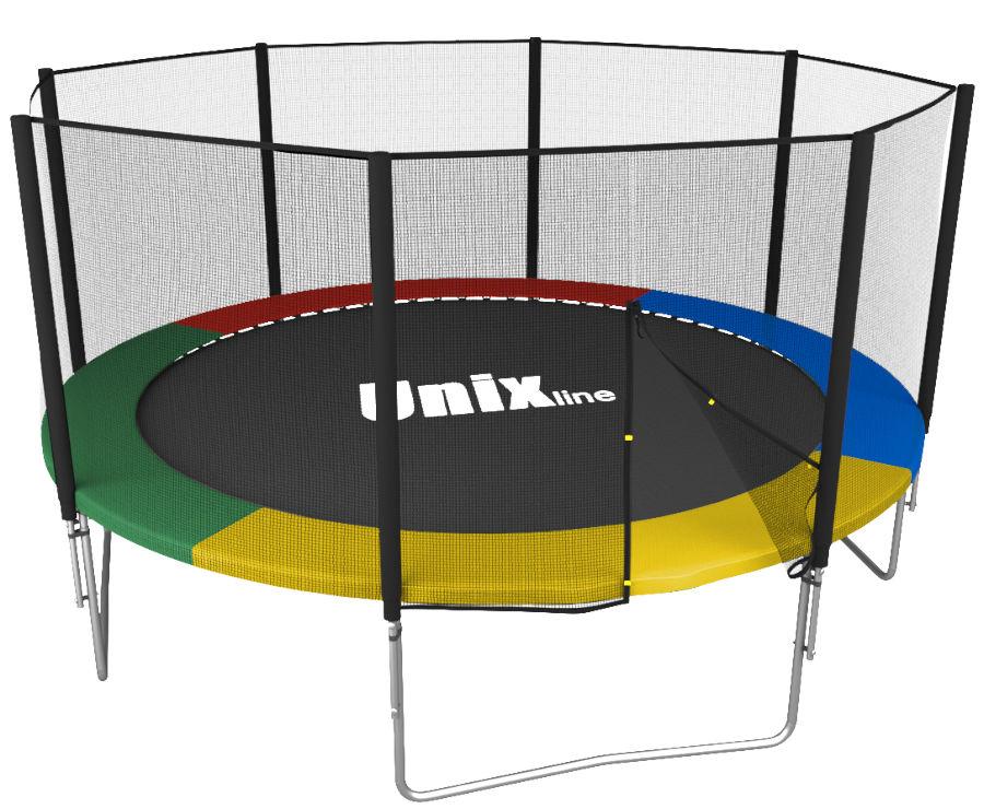 Unix Батут Unix Line Simple 12 футов Outside (с внешней защитной сетью) Color (разноцветный)