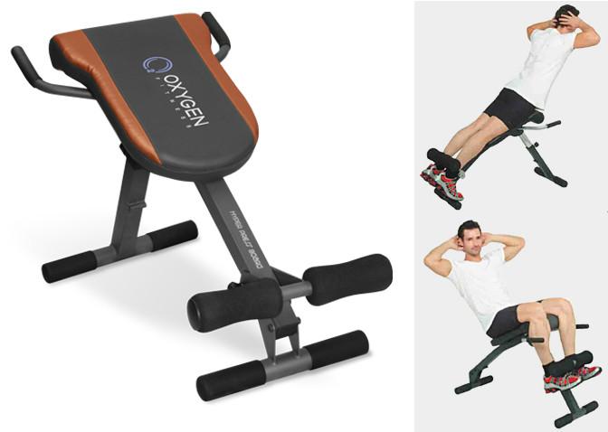 Oxygen Fitness Hyper Press Board, Гиперэкстензия + скамья для пресса